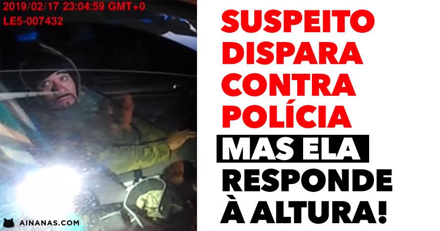 Suspeito dispara contra Polícia mas ela RESPONDE À ALTURA!