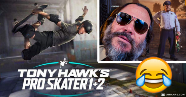 JACK BLACK é o Officer Dick no Remake de Tony Hawk's Pro Skater