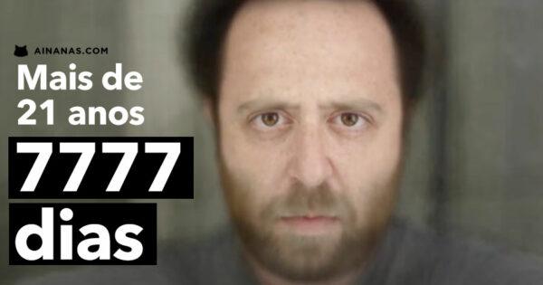 Ele tirou uma selfie por dia durante 7777 dias. São mais de 21 anos.