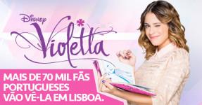 Violetta vai Atuar para 72 MIL FÃS em Portugal