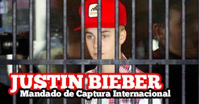 Justin Bieber alvo de mandado de captura internacional