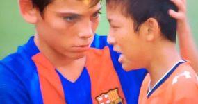 Crianças da Equipa SUB-12 do Barcelona dão Lição de Fair Play