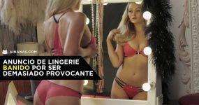 Anúncio de Lingerie Banido por ser Demasiado Provocante