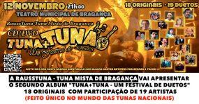 RaussTuna – Tuna Mista de Bragança lança CD/DVD com 19 artistas nacionais