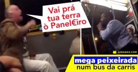 PEIXEIRADA num autocarro da Carris em Lisboa
