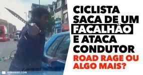 Ciclista SACA DE UM FACALHÃO e ataca condutor