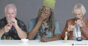 3 VELHOTES experimentam fumar CANNABIS pela Primeira Vez
