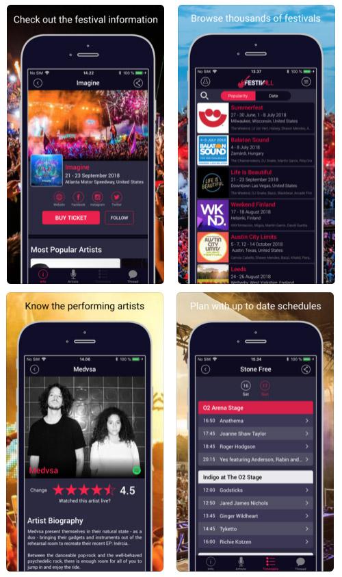 Festivall app - Todos os festivais numa só app