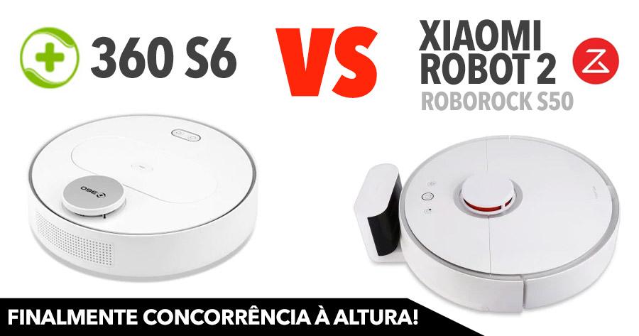 Robot Aspirador 360 S6. Finalmente um concorrente para o Xiaomi Roborock S50