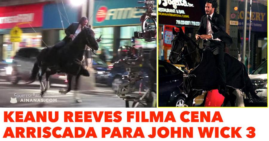 JOHN WICK 3: Keanu Reeves badass nas filmagens!