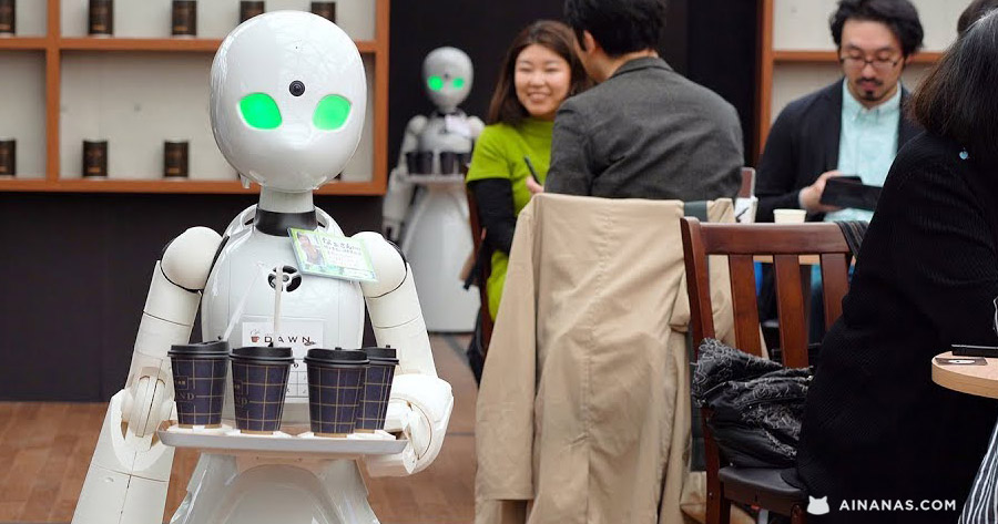 Japão – Café Pop-Up com Empregados Robots