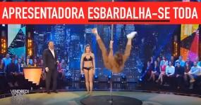 Apresentadora Francesa ESBARDALHA-SE TODA a Tentar Dançar no Varão