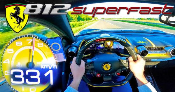 FERRARI 812 Superfast V12 a 331km/h na Autobahn
