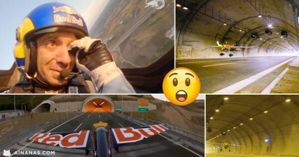 Piloto da Red Bull atravessa 2 Tunéis em voo histórico!