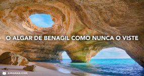 Visão Única de LUGAR MÁGICO no Algarve [ Algar de Benagil ]