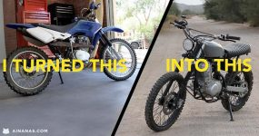 Vê o que ele fez com uma mota usada de 200 EUR