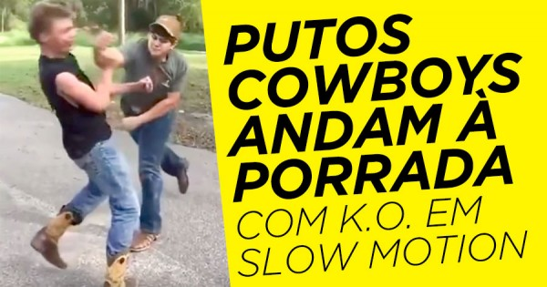 Porrada de Putos Cowboys com KO em Slow Motion
