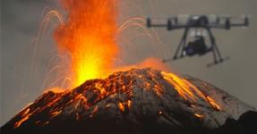 EPIC: Drone sobrevoa vulcão e filma-o de perto