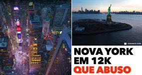 ABUSO: Filmagem Aerea de Nova York em 12k