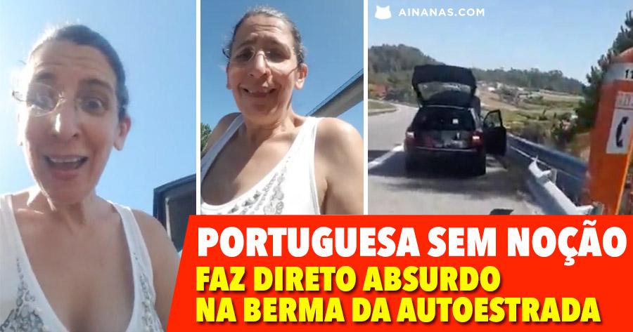 PORTUGUESA faz Direto Absurdo na Berma da Autoestrada