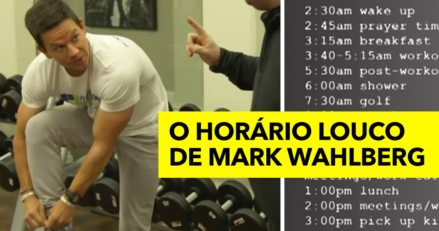 James Corden tenta acompanhar o HORÁRIO LOUCO de MARK WAHLBERG