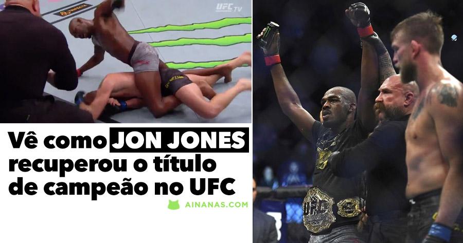 Vê como JON JONES recuperou o título de campeão no UFC