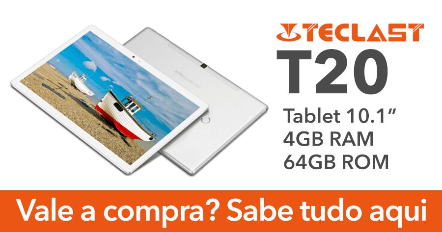 TECLAST T20: Tablet de 10.1 Polegadas com 4GB RAM a bom preço
