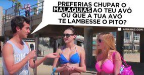 """Jogar ao """"PREFERIAS"""" ( aka Nêspera no Cu ) com Gajas Boas na Praia"""
