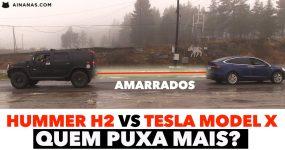 TESLA MODEL X vs Hummer H2: Quem puxa mais?