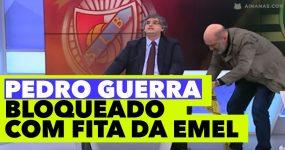 Pedro Guerra bloqueado com fita da EMEL