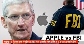 Apple Criou uma Página onde Explica porque Recusa Ajudar FBI