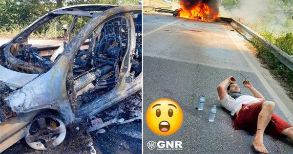 Militar da GNR de Folga salva vida de condutor num carro acidentado
