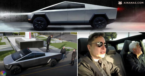 JAY LENO conheceu e conduziu a CYBERTRUCK da Tesla