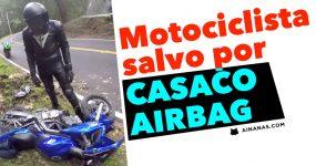 Motociclista salvo por CASACO AIRBAG