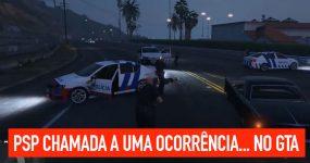 PSP chamada a uma ocorrência.. no GTA