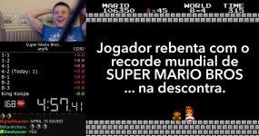Jogador Quebra Record Mundial de SUPER MARIO BROS