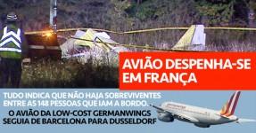 Avião Cai em França com 148 a Bordo. Não há Sobreviventes.