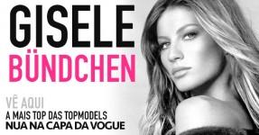Gisele Bündchen nua na capa da Vogue