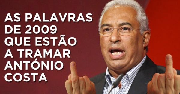 As Palavras de 2009 que Estão a TRAMAR António Costa