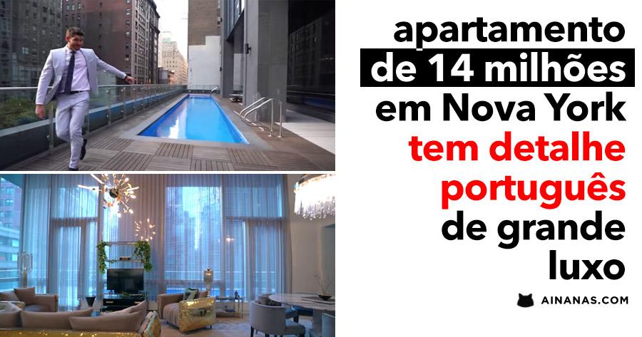 Apartamento de 14 milhões tem detalhe PORTUGUÊS
