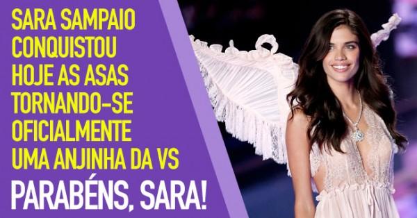 SARA SAMPAIO Conquistou as Asas da Victoria's Secret