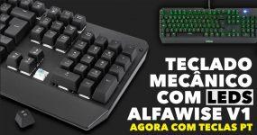 ALFAWISE v1 Teclado Mecânico Barato para Gaming com Iluminação RGB
