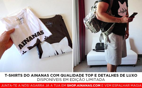 T-Shirts Ainanas - Edição Limitada