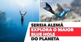 SEREIA ALEMÃ explora maior BLUE HOLE do Mundo nas Bahamas