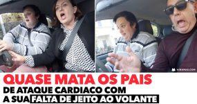 Rapaz QUASE MATA OS PAIS de Ataque Cardíaco nas suas Aulas de Condução