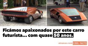 Ficámos apaixonados por este carro futurista… que já tem quase 50 anos!