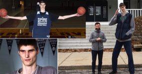 GIGANTE de 17 anos persegue sonho de jogar na NBA