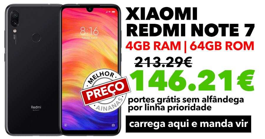 MELHOR opção abaixo dos 150€: Xiaomi Redmi Note 7