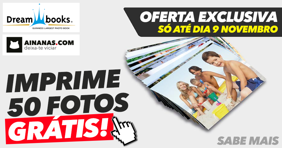 Oportunidade ÚNICA: 50 fotos grátis com Ainanas e Dreambooks