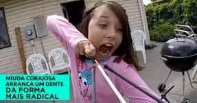 Menina Corajosa Arranca Dente da Forma Mais Radical